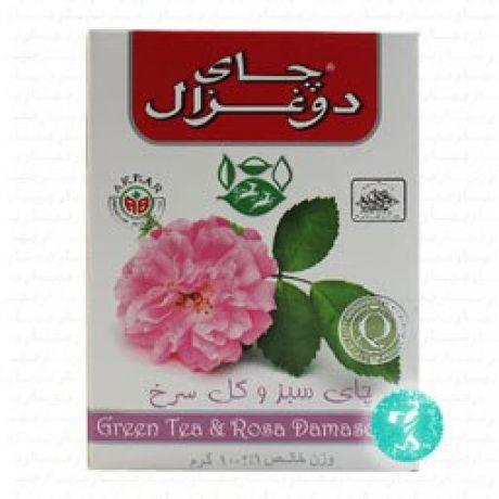 چای 100 گرمی گل سرخ 18 عددی دوغزال