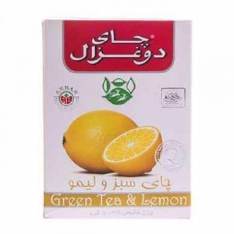 چايي سبز و ليمو 100 گرمی دوغزال