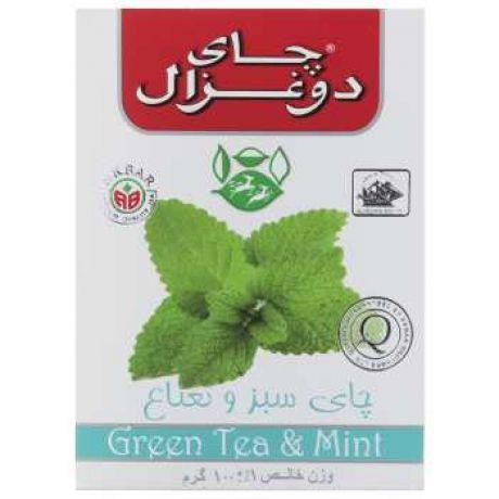 چای سبز نعناع 100 گرمی دوغزال