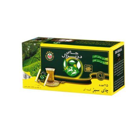 چای تی بگ 25 عددی سبز دوغزال