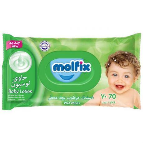 دستمال مرطوب معطر مولفيکس70*12