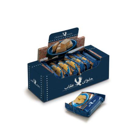 حلوا 50گرمی بسته بندی عقاب