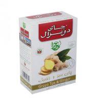 چاي سبز و زنجبيل 100 گرمی دوغزال